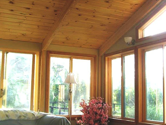 DIY Gable-Style Sunroom with Solid Wood Roof