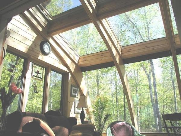 Do-It-Yourself Sunroom Kit with Glass Ceiling